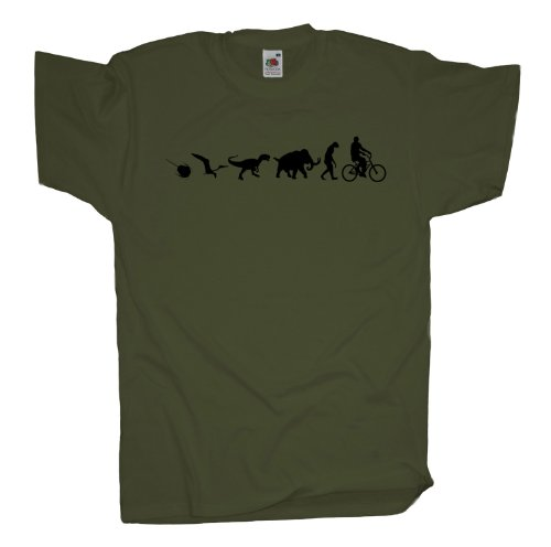 Ma2ca - 500 Mio Years - Biker Fahrrad T-Shirt Olive
