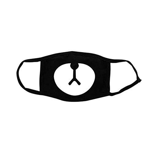 attern Gesicht Mundmaske EXO Earloop Mundmaske Winter Supplies für Sport Outdoor-aktivitäten Unisex Schwarz 1 STÜCKE ()