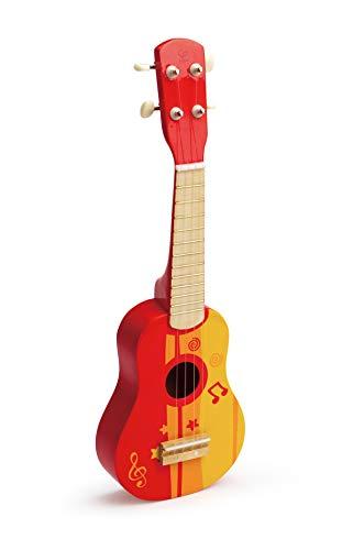 Hape E0316, Kinder-Ukulele aus Holz, rot