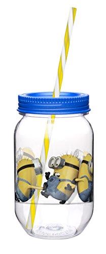 Trinkglas, Motiv Minions (Reise-mason-jar-glas)