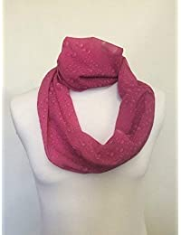Unendlichkeit Schal Trikot oder CHIFFON rote Rosen Design Unisex Fashion