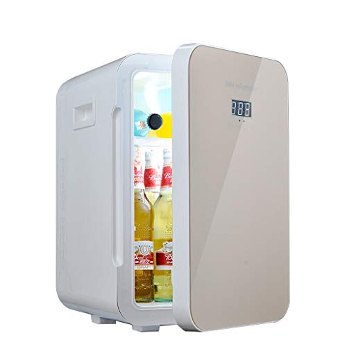 LIU UK Car Refrigerator Mini Kühlschrank 22L Gold Dual-Core-Mute CNC-Display Reefer Kühler Box (Home Office und Auto verwenden) (Office Kühlschränke)