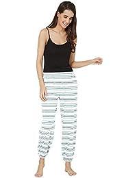 Mystere Paris Striped Knit Pyjama Sleepwear Womens White Green Pyjama G364C f52ba01b6