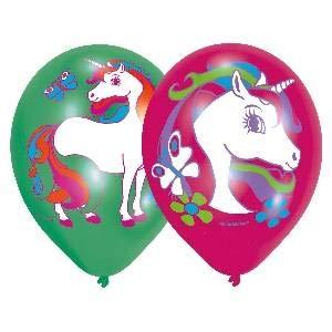 6 Luftballons * REGENBOGEN EINHORN * für Kinderparty und Kindergeburtstag // Deko Ballons Party Set Kinder Geburtstag Motto zauberhaft Traumwelt (Luftballons Party Für Kinder,)