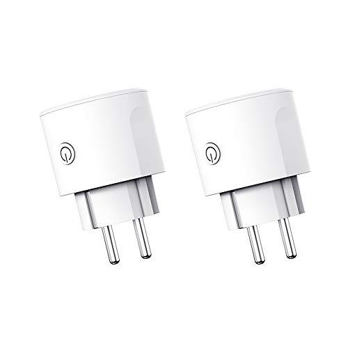 Smart Plug Presa WiFi Mini presa Lavora con Amazon Alexa Assistente Google Timer IFTTT Telecomando Funzione Risparmio energetico Nessun hub richiesto 16A