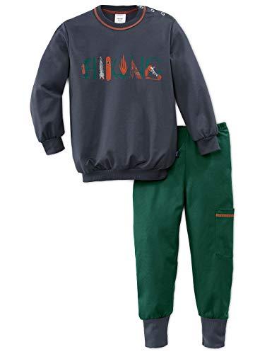 Calida Jungen Toddlers Hiking Zweiteiliger Schlafanzug, Grün (Jasper Green 578), (Herstellergröße: 104)