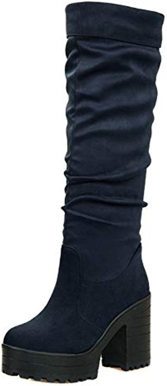 896d04c3b65 JOJONUNU Women Block Heel Knee High Boots Boots Boots B07GXJLGZL Parent  dc71a7