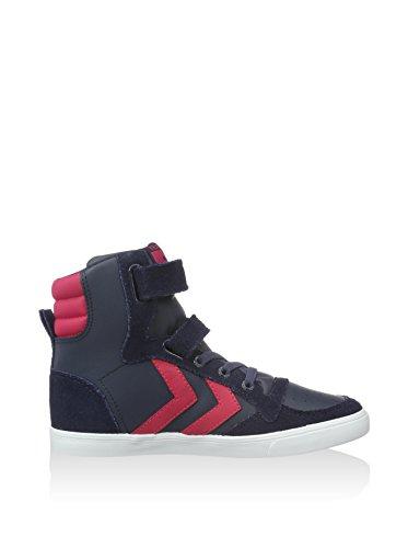Hummel Slimmer Stadil Sneaker Jr, Bottes pour Fille Marine/Pink