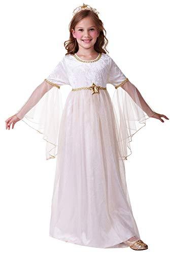 Girls Sweet Angel Gabriel Christmas Xmas Nativity School Play Festive Celebration Fancy Dress Costume Outfit (4-6 years)