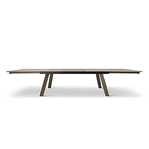 Tuoni Adige Table Bois Finition Noyer Noir 200 X 100 X 75 cm