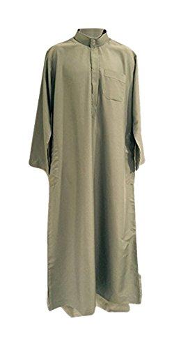 Wüsten Herren Kleid Formelle Farbe Sommer Kaftan Gewand Paintbal Arabia DiashDasha Jubba Qatar Oman Grau