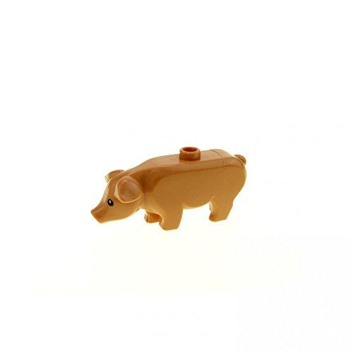 1 x Lego System Tier Schwein Sau Ferkel rosa Zoo Zirkus Haus Bauernhof Tiere Harry Potter 4840 7566 87621 pb01 (Lego City Bauernhof-tiere)