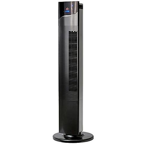 NSA UK Elegantes und zeitloses Fernbedienung schwarz Spalte Fan mit LCD-Display