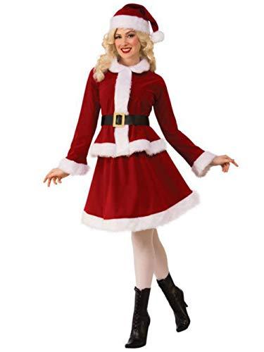 Kostüme Frauen Frau Claus Deluxe Erwachsenenbekleidung Cosplay Anzug Für Weihnachten,M