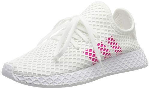 adidas Unisex-Kinder Deerupt Runner Sneaker, Weiß (Footwear White/Shock Pink/Core Black 0), 37 1/3 EU - Adidas Lifestyle Schuhe