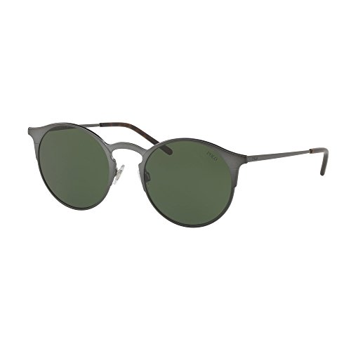 Polo ralph lauren 0ph3113 915771, occhiali da sole uomo, semigreen, 51