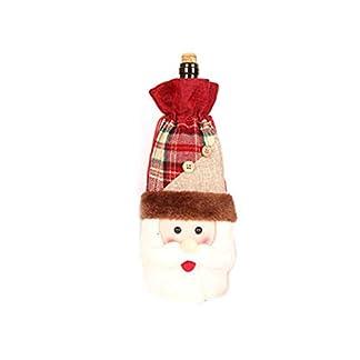 Hieefi 1Pc Vino De La Navidad De La Cubierta De La Botella De Navidad Linda Botella De Vino DecoracióN De Navidad Botella Cubierta Bolso Botella De Vino Exquisito (Santa Claus)