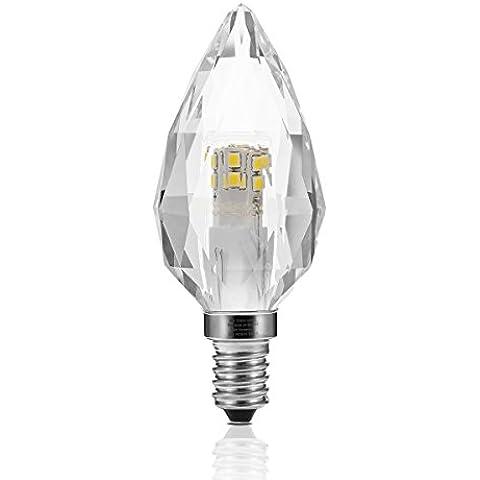 Laghi–Lampadina LED, 5W 500lemens, sostituire 50W Lampadina a incandescenza, cristallo, Daylight White 6000K, e14, 5.00 wattsW 230.00 voltsV