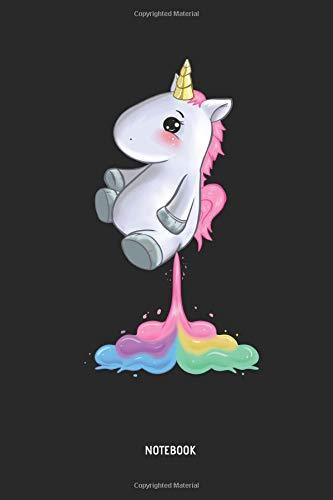 a0d1d9c8e52ca Unicorn Notebook: Cute Unicorn Farting Rainbow - Lined Journal for Women,  Men and Kids