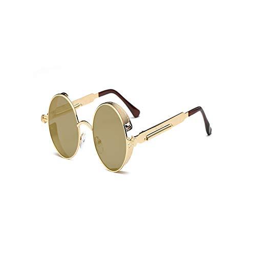 FGRYGF-eyewear2 Sport-Sonnenbrillen, Vintage Sonnenbrillen, Gothic Round Steampunk Sunglasses Men Brand Designer Vintage Sunglasses Women Male Retro Sun Glasses For Male UV400 C04