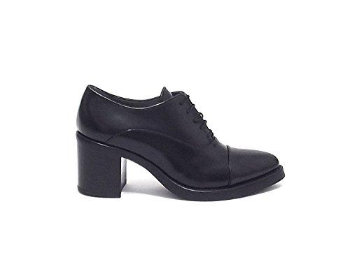 Janet & Janet donna, articolo 38259, scarpa lacci pelle, nr 39 nero A6102