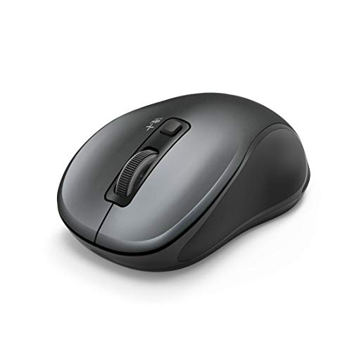 "Hama Flüsterleise Bluetooth Maus, beidhändig bedienbar \""Canosa\"" (kabellose, optische Computer-Maus für Rechts-/Linkshänder, ohne Klickgeräusche, max. 1600 DPI, Mac/PC/Android) Wireless Mouse grau"