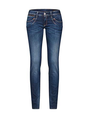 Herrlicher Damen Piper Slim Jeans, Blau (Deep Water 831), Keine Keine Angabe/L32 (Herstellergröße: 24) -