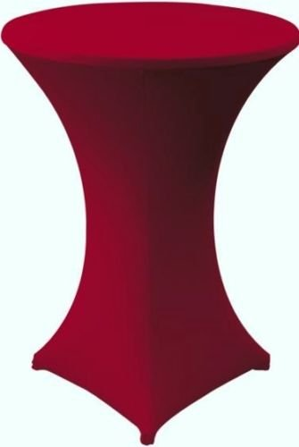 Stehtischhusse Stretch Husse für Stehtisch, Durchmesser: 80 cm (Bordeaux)