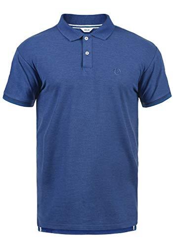 !Solid BenjaminPolo Herren Poloshirt Polohemd T-Shirt Shirt Mit Polokragen, Größe:L, Farbe:Faded Blue Melange (N1542)