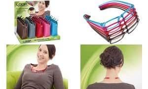 WEDO Lunettes de lecture LOOP, présentoir de 30, couleurs