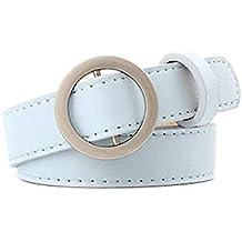 Firally Hot sale Cintura Donna Fibbia Tonda Senza Fibbia 105CM Stile Casual  Dimensioni Regolabili Elastica Cintura cd487a9096f
