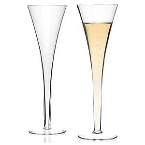 Leonardo Nizza Coupes À Champagne, Flûtes À Champagne, Verre À Champagne, Verre, 230 ml, Lot De 2, 19066