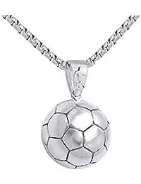7bf9416abf5c Huamás Moda Estilo Simple Colgante de Futbol Oro Plata Hombres Nuevo Collar