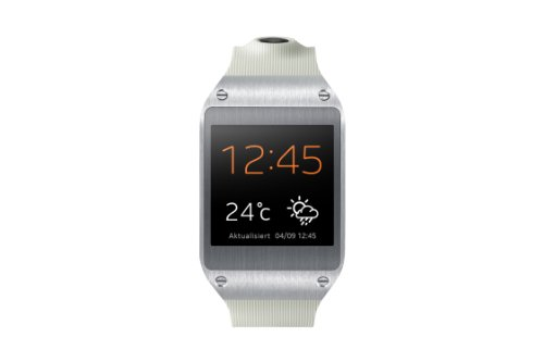 Samsung Galaxy Gear V700 Smartwatch (4,14 cm (1,63 Zoll) SAMOLED-Display, 800 MHz, 512MB RAM, Android 4.3) beige (Samsung Gear Sm-v700)