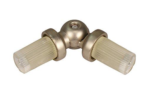 Winkelverbinder für Gardinenstangen mit 16 mm Durchmesser Stahl Silber