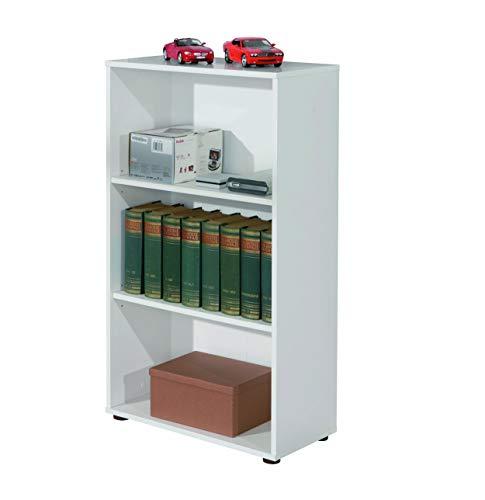 Inter Link 13500020 Regal weiß Bücherregal Wandregal Aktenregal Büroregal Büro Wohnzimmer 2 Böden