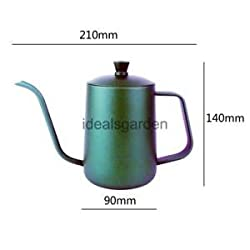 Alcoa Prime Tea Coffee Pot Gooseneck Tea Kettle Moka Pot Espresso Percolator 600ml Green