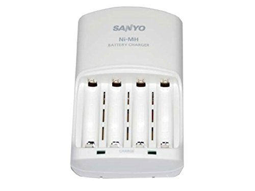 SANYO Eneloop 4-Position Ni-MH Rechargeable Battery Charger White  available at amazon for Rs.5599