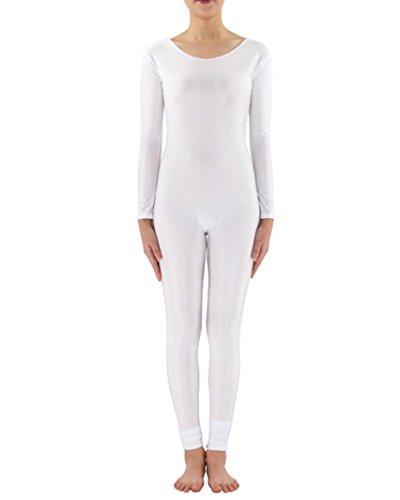 Ganzkörperanzug Anzug Suit Kostüm Ganzkoerper Anzug Fasching Karneval Kostuem Weiß M
