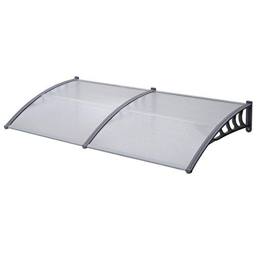 SVITA Vordach Tür-Dach Überdachung transparent Schutz vor Niederschlag und Witterung (200 x 80 cm)