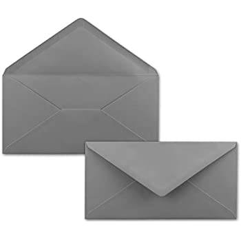75 Brief-Umschläge Dunkel-Grau/Graphit DIN Lang - 110 x