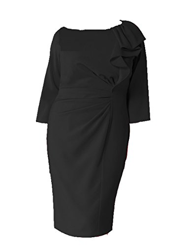 marina-rinaldi-black-frill-ruched-party-dress-size-18