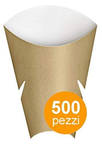 Pappbehälter für frittierte Speisen oder für Sandwiches, kombinierbare mit das Freebox - 500 Stück Box -