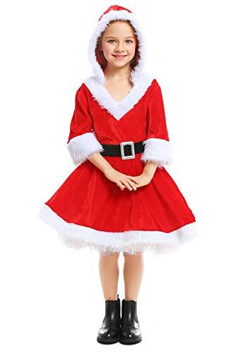 Frau Claus Kostüm Santa's Kleiner Helfer Fräulein Weihnachten Kleid Outfit Cosplay Kostüm Mädchen - Santas Kleiner Helfer Kostüm