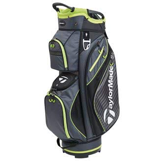 TaylorMade Golf 2018 Pro Cart 6.0 Cart Bag Mens Trolley Bag 14 Way Divider Charcoal/Black/Green