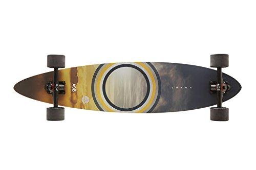 AOB Longboard Pintail Sunny ***Deck is Handmade in Germany*** (Pintail Deck Longboard)
