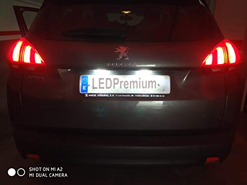 LEDpremium, 2x luci per targa auto, a LED Omologate E4