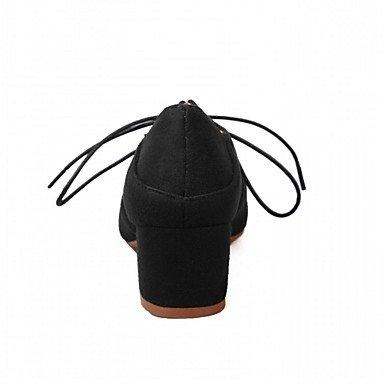 pwne Donna Primavera Tacchi Cadono Comfort Novità Ufficio Sintetico &Amp; Carriera Abito Casual Chunky Heel Lace-Up Polka Dot A Piedi US6.5 / EU38 / UK5 Big Kids