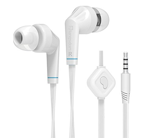 Premium (1 Year Working Guarantee) 3.5mm Connectors Stereo Earphone Headphone Earbud Super Bass Headset with Mic for Reliance ZTE S194 & All Other Mobile Models (White)  available at amazon for Rs.325