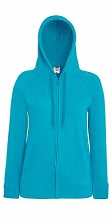 Fruit of the Loom Women's Fit Full Zip Hoodie Sweatshirt Azure XS